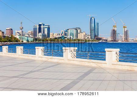 Baku Boulevard, Caspian Sea