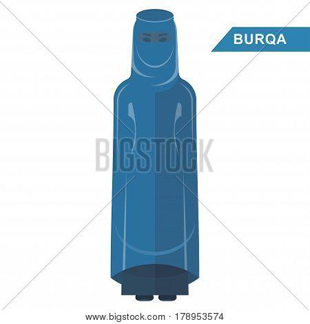 Arabian Woman Wear Burqa