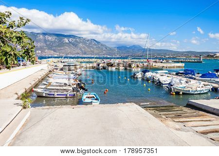 Corinth Port In Greece