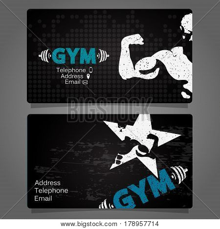 Business Card gym and fitness concept vector