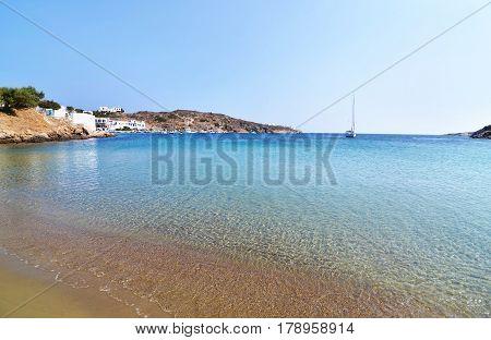 Faros beach at Sifnos island Cyclades Greece