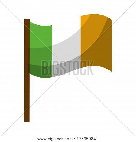 flag symbol irland celebration, vector illustration design