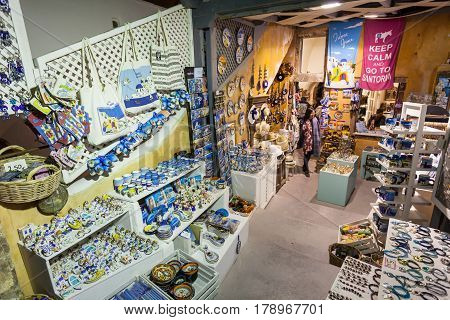 Souvenir Shop In Santorini