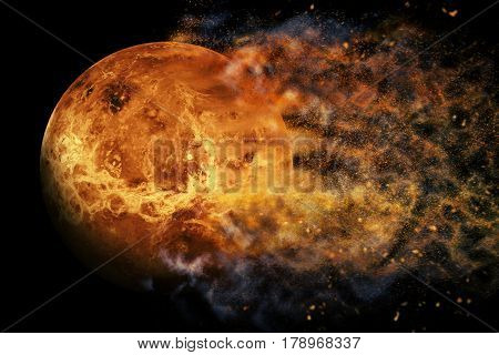 Planet Explosion - Venus. Elements Of This Image Furnished By Nasa
