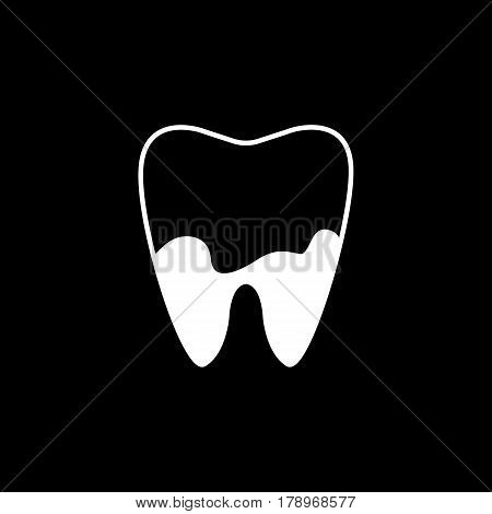 Denatal Plaque solid icon, Dental and medicine, tooth sign vector graphics, a filled pattern on a black background, eps 10.