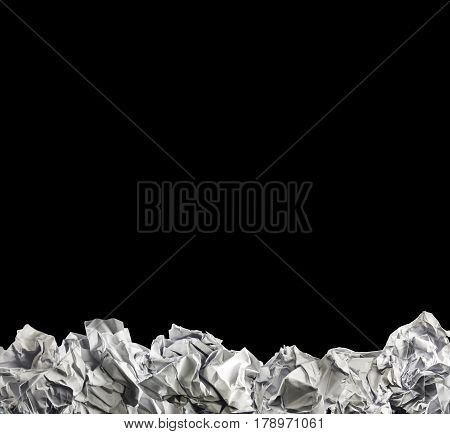 crumpled paper ball arrange for background   ,