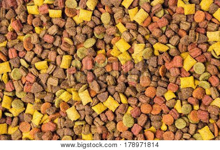 Cat Food Granule Background Pattern