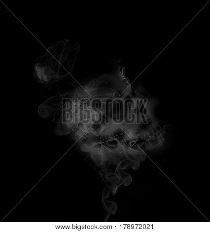 skull smoke effect on the background ,