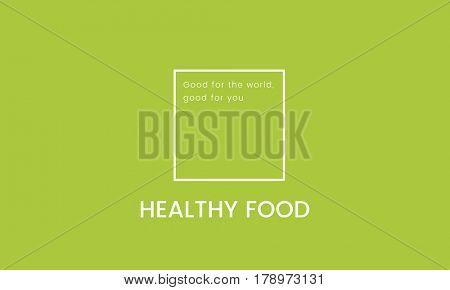 Organic Fresh Food Green Banner Graphic