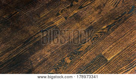 Background made of dark wood. Wood background. Brown wood background texture. Old Italian wood floor as a background. Wood textures.
