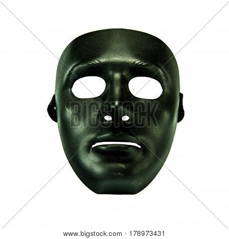 Mask and skull on the white background