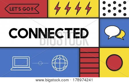 Connection Connected Digital Devices Concept