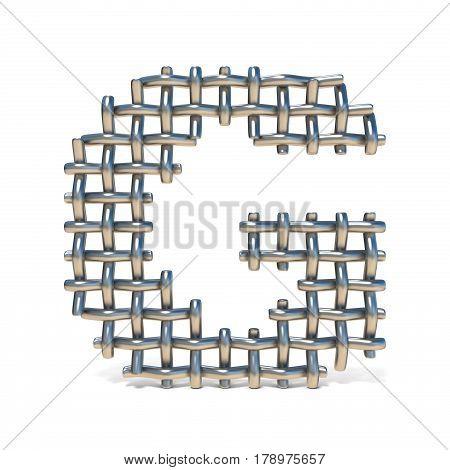 Metal Wire Mesh Font Letter G 3D
