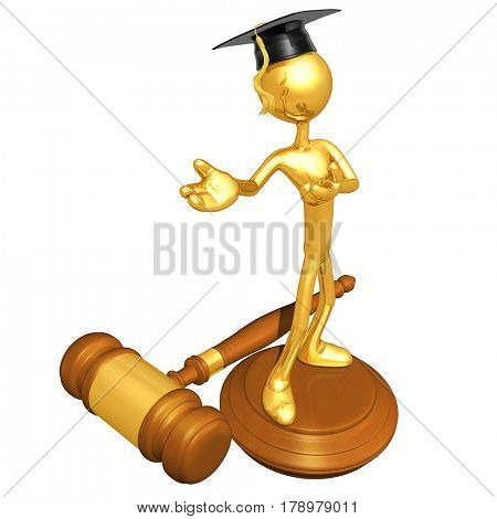 Education Law Legal Concept With The Original 3D Character Illustration