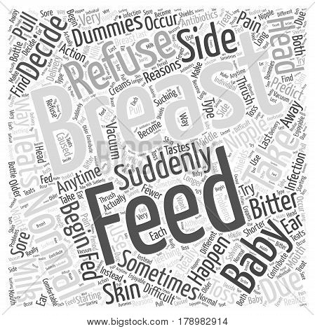 Refusal To Breast Feed Word Cloud Concept