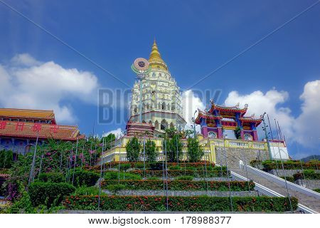 The famous and popular tourist destination, Kek Lok Si Temple of Penang