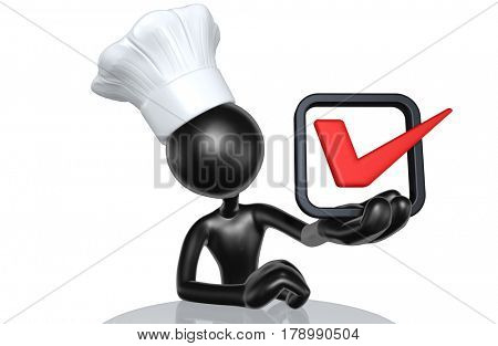 The Original 3D Character Illustration Chef With A Vote