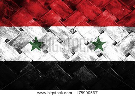 Syria flag , Syria flag on Weave Bamboo
