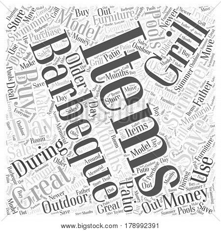 Save Money when you Buy Outdoo Items Word Cloud Concept