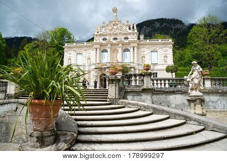 Linderhof Palace Is A Schloss In Germany, In Southwest Bavaria.