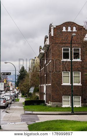 Vancouver Canada - March 23 2017 Architecture at Hemlock Street