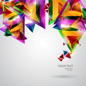 Background of  geometric shapes. poster
