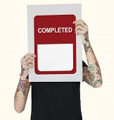 Certified Coming Soon Completed Sticker  poster