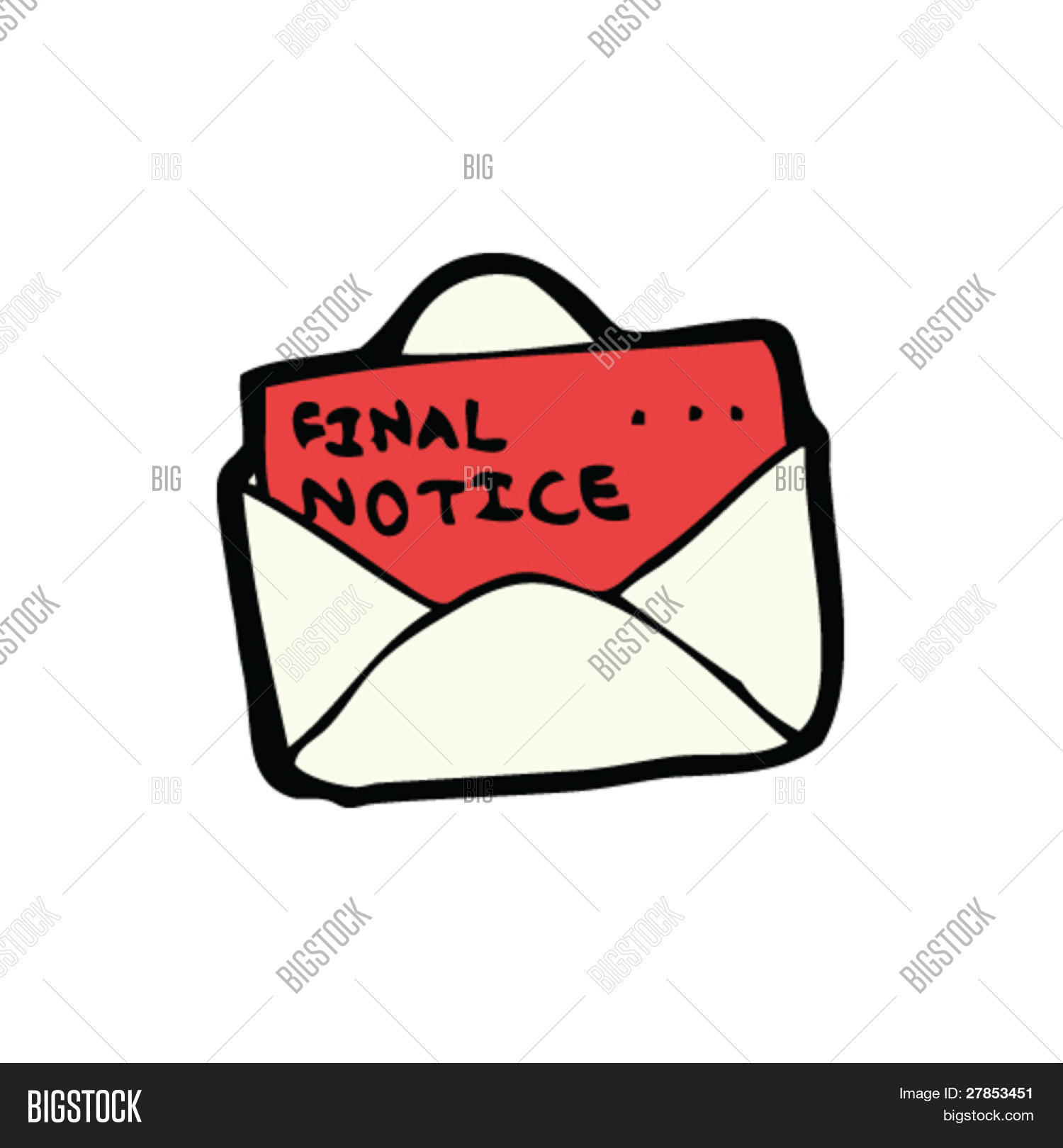 Final Notice Letter Cartoon