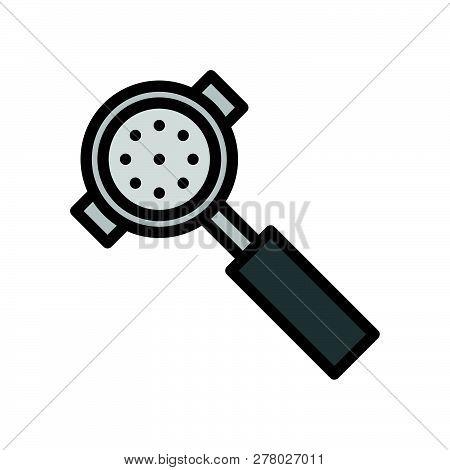 Portafilter Vector, Coffee Related Filled Design Editable Stroke Icon