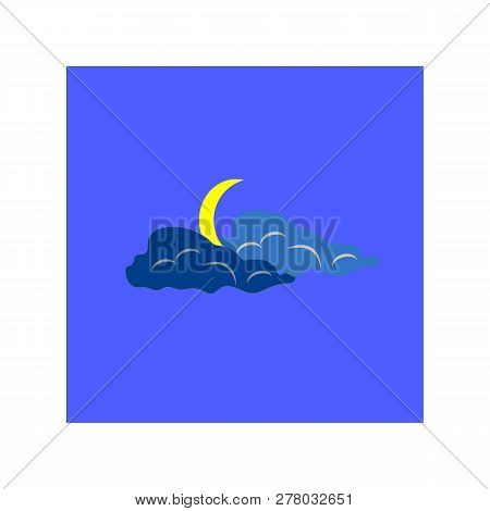 Weather Icon. Meteorology Symbol Thunderstormy. Isolated Icon Bad Weather. Design Element. Colorful