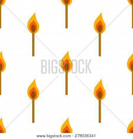 Burning Match Vector Pattern, White Background Wallpapper