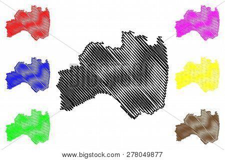 Fukushima Prefecture (administrative Divisions Of Japan, Prefectures Of Japan) Map Vector Illustrati