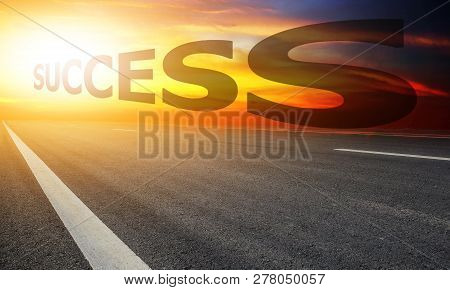 Road Sky Sunset Background,business Success Concept,road Sky Sunset Background,business Success Conc