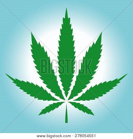 Cannabis (marijuana) Green Leaf In Vintage Style