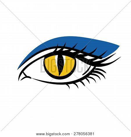 Eye On White Background. Eyes Art, Eye Icon, Human Eye, Cartoon Eyes. The Eye Logo. Eyes Art. Makeup