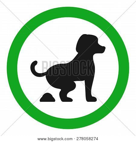 Dog Fouling Allowed Sign. Isolated On White Background. Vector.