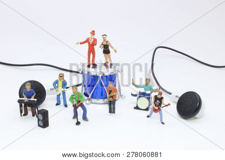 A Mini Of Fun Music Band On Show