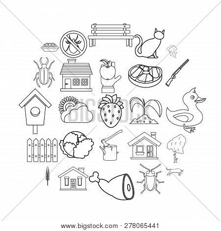 Bower Icons Set. Outline Set Of 25 Bower Vector Icons For Web Isolated On White Background
