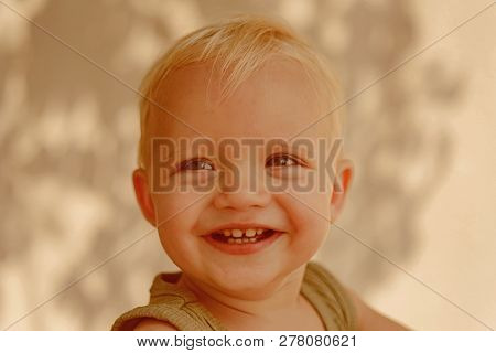 Staying Healthy. Smile Of Little Boy. Baby Boy Enjoy Happy Childhood. Little Baby Happy Smiling. Hea