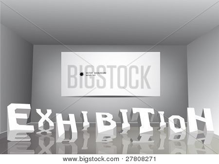 Inscription an exhibition in a room poster