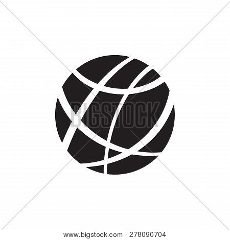 Internet - Black Icon On White Background Vector Illustration For Website, Mobile Application, Prese