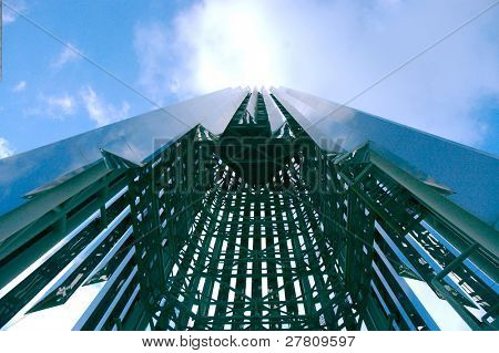 Extream upward angle of the Crystal Cathedral