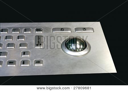 Stainless steel keyboard and trackball