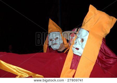 Día de los Muertos - Day of the Dead Celebrations on Olevera Street, Los Angeles, California