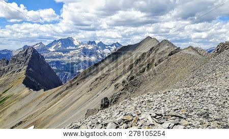 Incredible Views Of The Northover Ridge Hike In Kananaskis, Alberta, Canada.  The Hike Is High In Th