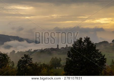 Photographs Of Views From Mount Penice Of A Cloudy Landscape