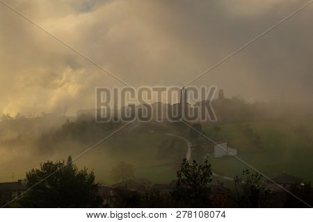 Photographs Of Views From Mount Penice To A Cloudy Landscape In The Morning