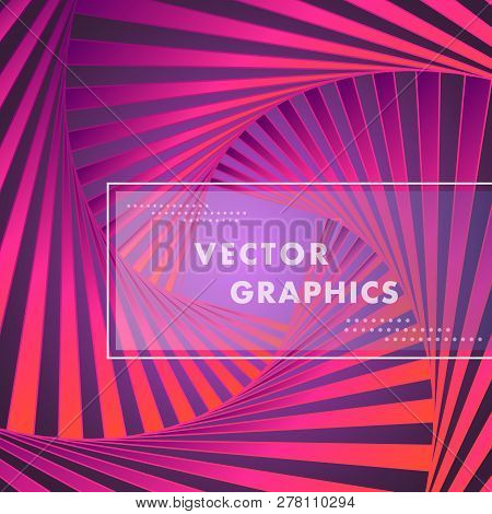 Abstract Vector Background With Hexagon Spiral Pattern