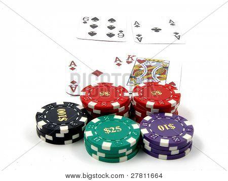 Isolated blackjack game