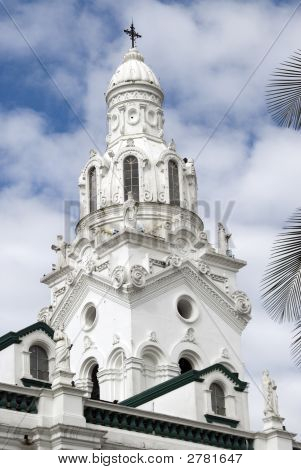 Cathedral On Plaza Grande Quito Ecuador